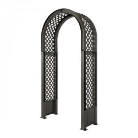 Садовая арка KHW 100х207см с штырями для установки, антрацит