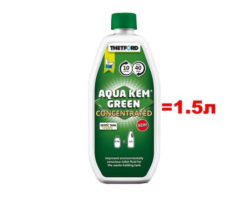 Концентрат Thetford Aqua Kem Green Concentrated 0,75л (аналог 1,5л жидкости)