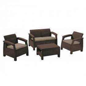 Комплект садовой мебели Keter CORFU II SET brown