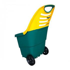 Садовая тележка Helex 65л, зеленый/желтый