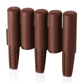 Ограждение для клумб Prosperplast Palisada 15,5см/2,7м, коричневый
