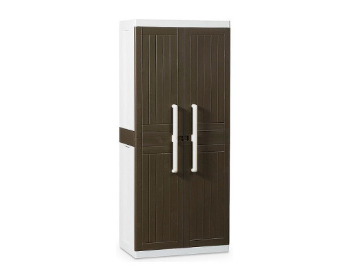 Шкаф пластиковый Toomax Wood Line S узкий 2 двери 3 полки коричневый