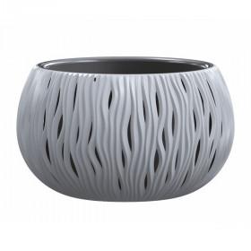 Кашпо для цветов Prosperplast Sandy Bowl 9л, серый