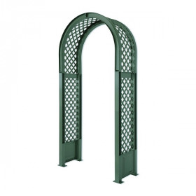 Садовая арка KHW 100х207см с штырями для установки, зеленый