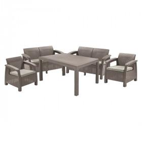 Комплект садовой мебели Keter CORFU II FIESTA cappuccino
