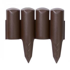 Ограждение для клумб Prosperplast Palisada 13см/2,5м, коричневый