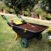 Садовая тачка Helex 80л, черный/зеленый/желтый