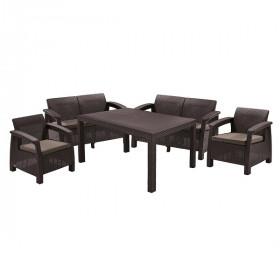 Комплект садовой мебели Keter CORFU II FIESTA brown