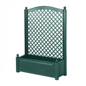 Ящик для цветов KHW 110л с шпалерой 140см, зеленый