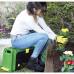 Скамейка-перевертыш садовая Helex с ящиком на колесах 4в1, зеленый/черный