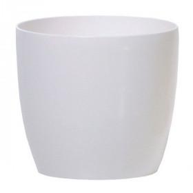 Кашпо для цветов Prosperplast Coubi Round 0,5л, белый
