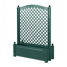Ящик для цветов KHW 110л с шпалерой по центру 140см, зеленый