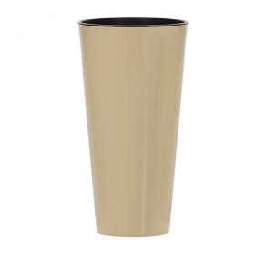 Кашпо для цветов Prosperplast Tubus Slim Shine 15+27л, кофе