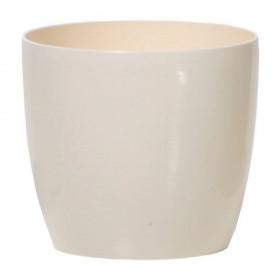 Кашпо для цветов Prosperplast Coubi Round 0,5л, кремовый