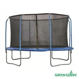 Батут уличный Green Glade с сеткой 12-футовый 4 ножки 8 стоек (2 кор.)