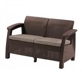 Диван садовый Keter CORFU II LOVE SEAT brown
