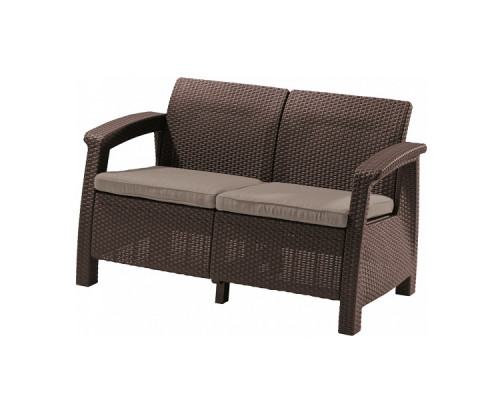 Диван садовый Keter CORFU II LOVE SEAT brown