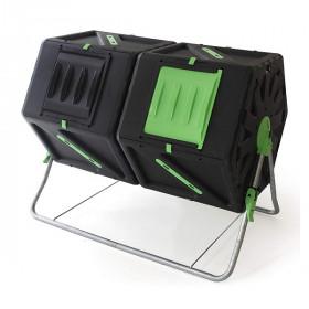 Компостер вращающийся Helex двойной 2х105л, черный/зеленый