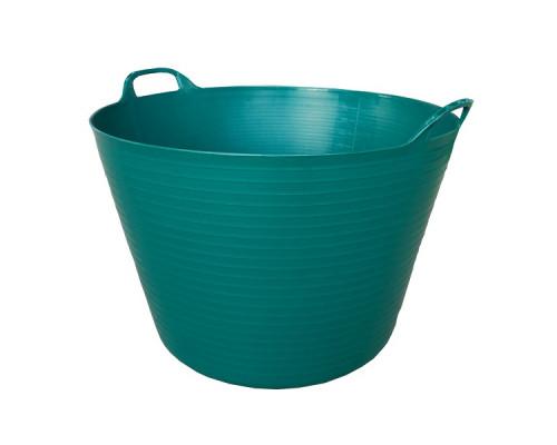 Корзина пластиковая Helex 60л, темно-зеленый