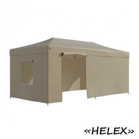 Тент-шатер быстросборный Helex 4362 3x6х3м полиэстер бежевый