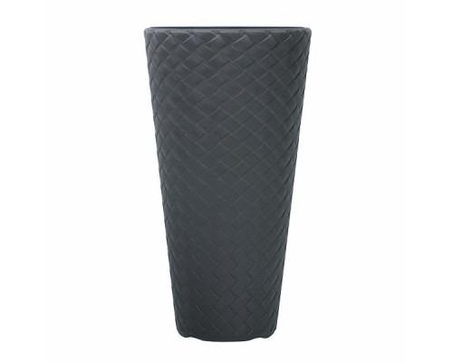 Кашпо для цветов Prosperplast Matuba Slim 18+57л, антрацит