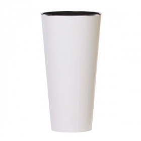 Кашпо для цветов Prosperplast Tubus Slim 2+3,3 л, белый