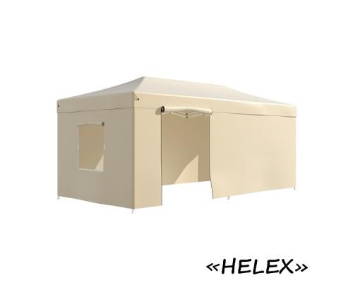 Тент-шатер быстросборный Helex 4361 3х6х3м полиэстер шампань