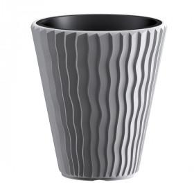 Кашпо для цветов Prosperplast Sandy 18+37л, серый