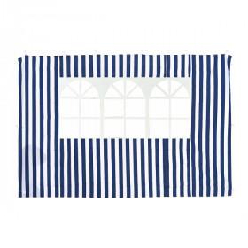Стенка для садового тента Green Glade 1,95х2,95м полиэстер с окном синяя