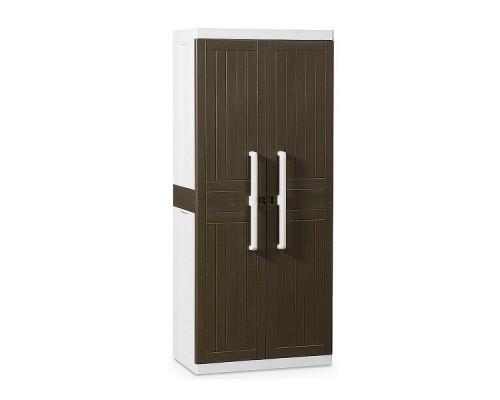 Шкаф пластиковый Toomax Wood Line S узкий 2 двери 4 полки коричневый