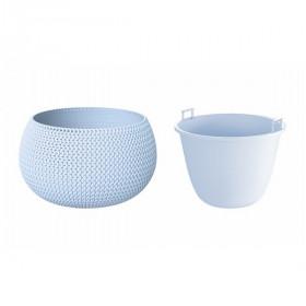 Кашпо для цветов Prosperplast Splofy Bowl 9л, голубой