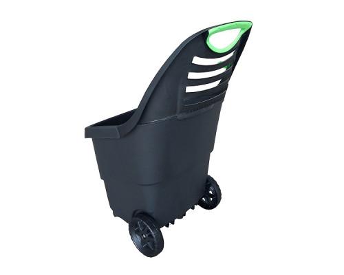 Садовая тележка Helex 65л, черный/зеленый