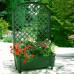 Ящик для цветов KHW Калипсо 42л на колесах с шпалерой 134см, зеленый (2 кор.)