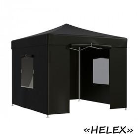 Тент-шатер быстросборный Helex 4332 3x3х3м полиэстер черный