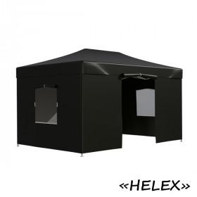 Тент-шатер быстросборный Helex 4342 3x4,5х3м полиэстер черный