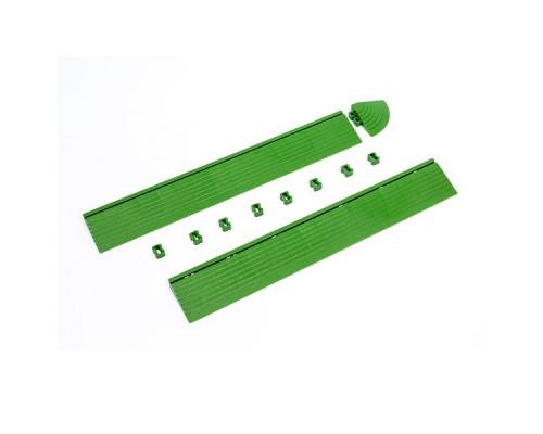 Бордюр для модульного покрытия HELEX 2шт/уп, зеленый