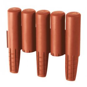 Ограждение для клумб Prosperplast Palisada 15,5см/2,7м, терракот