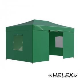 Тент-шатер быстросборный Helex 4336 3x4,5х3м полиэстер зеленый