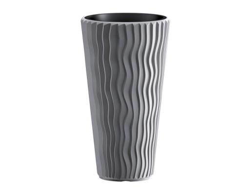 Кашпо для цветов Prosperplast Sandy Slim 18+45л, серый