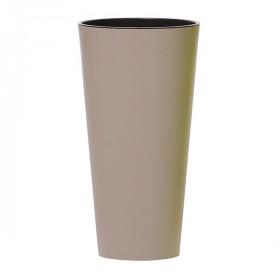 Кашпо для цветов Prosperplast Tubus Slim 15+27л, мокко