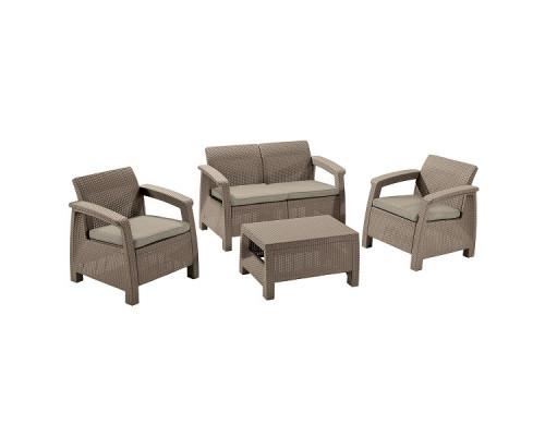 Комплект садовой мебели Keter CORFU II SET cappuccino